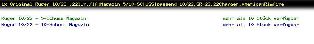 http://jafiwi.de/egun-bestand/2153000X_1x_Original_Ruger_1022_22lrlfbMagazin_510SCHUSSpassend_1022SR2222ChargerAmericanRimfire.jpg?1566935203823