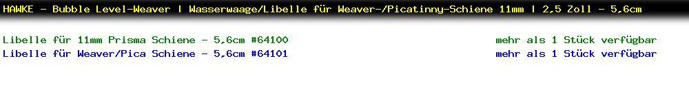 http://jafiwi.de/egun-bestand/64100_64101_HAWKE__Bubble_LevelWeaver__WasserwaageLibelle_fuer_WeaverPicatinnySchiene_11mm__25_Zoll__56cm.jpg?1561907511152