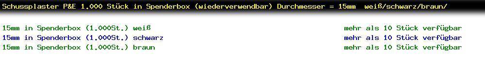 http://jafiwi.de/egun-bestand/72200_Schussplaster_PE_1000_Stueck_in_Spenderbox_wiederverwendbar_Durchmesser__15mm__weissschwarzbraun.jpg?1558445623454