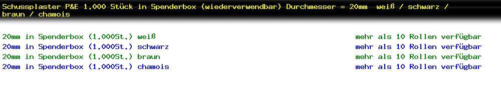 http://jafiwi.de/egun-bestand/72203_Schussplaster_PE_1000_Stueck_in_Spenderbox_wiederverwendbar_Durchmesser__20mm__weiss__schwarz__braun__chamois.jpg?1558445758295